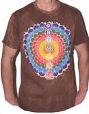 NO TIME T-shirt - Rainbow Blossom -Brun