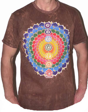 NO TIME T-shirt - Rainbow Blossom -Brun