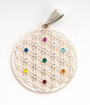 Livetsblömma med 19st färgade Swarovski Kristaller