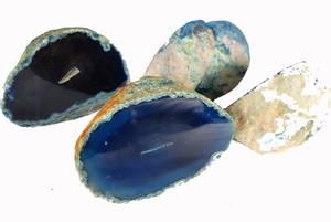 Agatgeoder - Blå