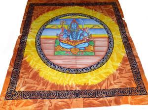 Handmålade Batik Väggbonad - Shiva