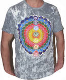 NO TIME T-shirt - Rainbow Blossom -Grå