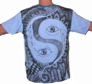 SURE T-shirt - All Seeing Yingyang -Blå