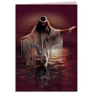 Dubbla vykort - Golden Reflections