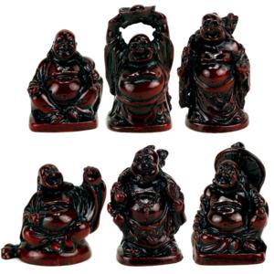 Lycka Buddhor (Set of 6 stycken)