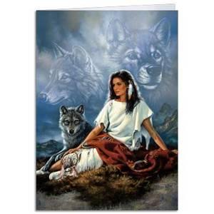 Dubbla vykort - Spirit Seeker