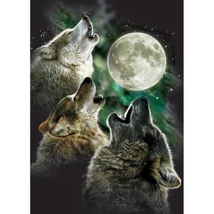 Dubbla vykort - Three Wolf Moon
