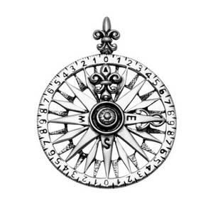 Kompas  Hänge i Silver