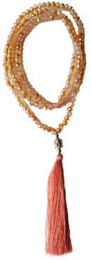 Mala Halsband med Toffs - Champagne Krystallglas
