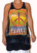 Långt Linne - Peace - Blå (fredsmärke)
