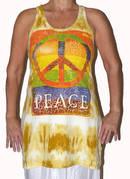 Långt Linne - Peace - Gul (fredsmärke)