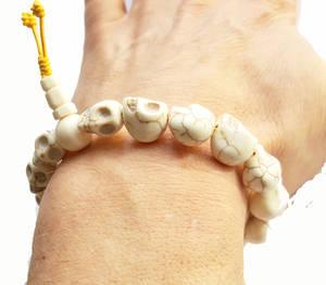 Döskalle Buddha Armband