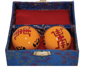 Kinesiska Hälsokulor -   Long Life - Gul
