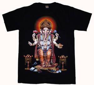 T-Shirt - Ganesha - Svart