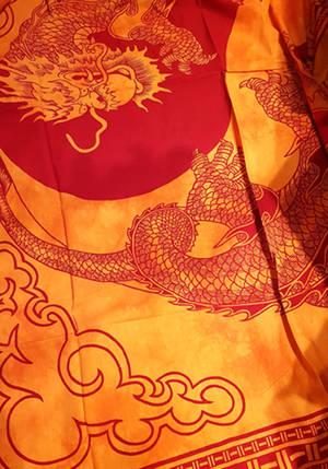 Orange Drake Sängöverkast / Väggbonad