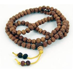 Shiva Yoga Rudraksha Seeds Mala - Polerat Pärlor