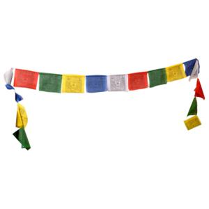 Fem tibetanska böneflaggor - 10 flaggor