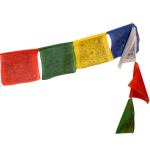 Fem tibetanska böneflaggor - medium