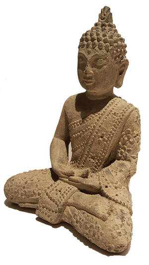 Blommig Buddha - 20cm