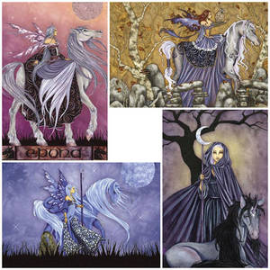 Amy Brown Vykort Enchanted Horses Paket