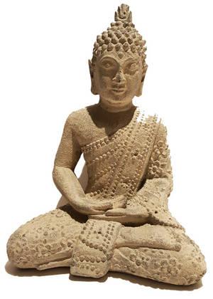 Mediterande Blommig Buddha - 40cm