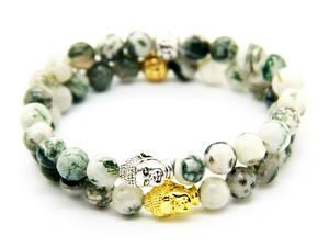 Buddha Armband - Träagat