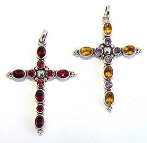 Fasetterat  Silver Kors