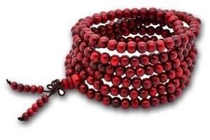 Mala Beads Armband - Trä - Lång
