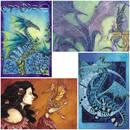 Amy Brown Vykort Dragon Dream Paket