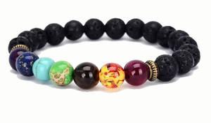 Buddha Lavasten Armband - Chakra
