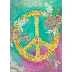 Dubbla vykort - Peace Love Faith Hope