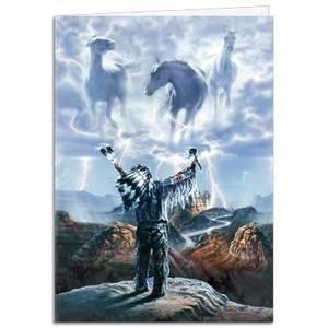 Dubbla vykort - Summoning the Storm
