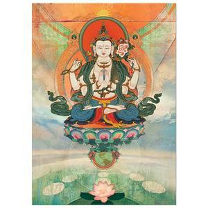 Dubbla vykort - Buddha Meditation