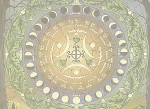 Dubbla vykort - Moon Calendar II
