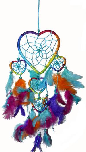 Regnbågsdrömfångare - Hjärtan