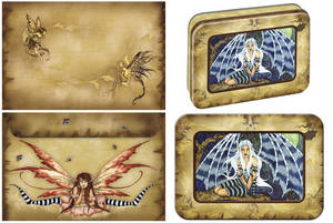 Amy Brown Vykort Dragon Wings paket