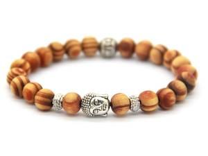 Buddha Armband - Ljus Trä