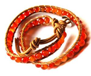 Wraparmband - Karneol - Brun