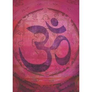 Dubbla vykort - Pink Om