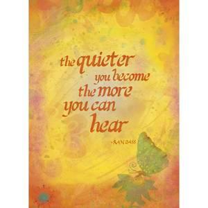 Dubbla vykort - Become Quiet