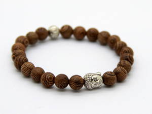 Buddha Armband - Zebraträ
