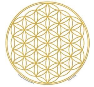 Klistermärke - liversblomma - guld