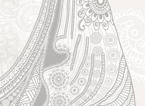 Dubbla vykort - Meditation Mehndi