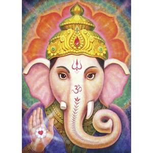Dubbla vykort - Vibrant Ganesha