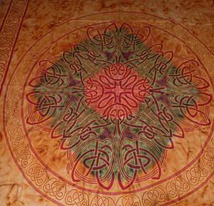 Keltiskt Batik Sängöverkast / Väggbonad - Orang