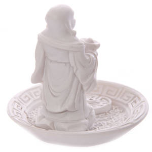 Vit Kinesisk Buddha Rökelsehållare