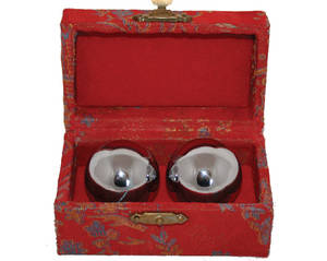 Kinesiska Hälsokulor -  Silver 45mm