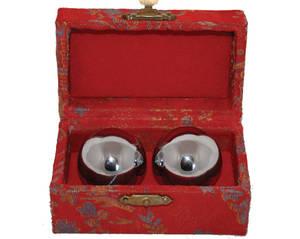 Kinesiska Hälsokulor -  Silver 40mm