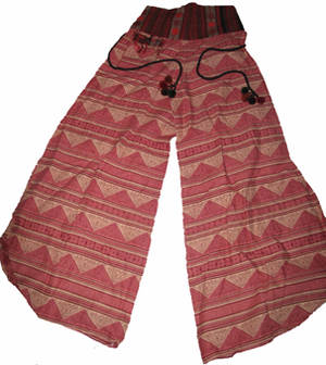 Haremsbyxor - Wide Legged Tribal med Ficka