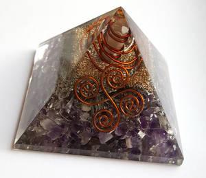 Organite Pyramid - Ametist Reiki Poi